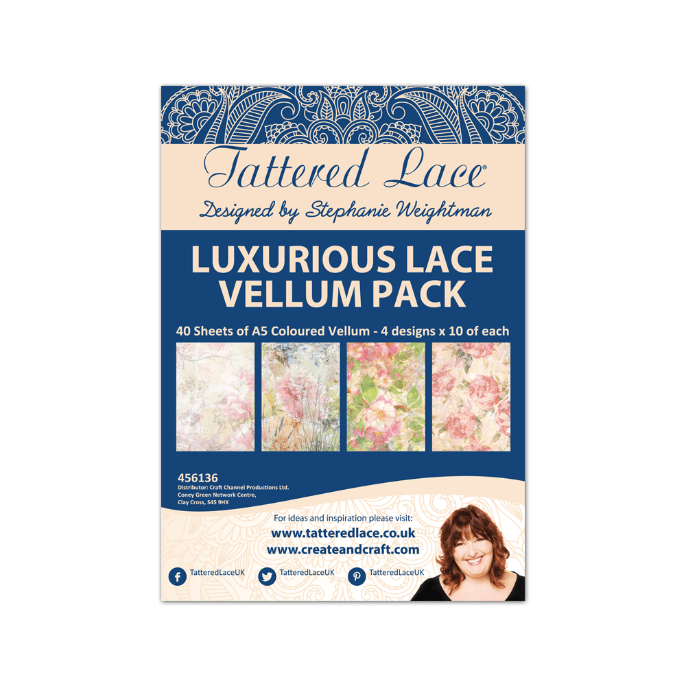 Luxurious Lace Vellum Pack Tattered