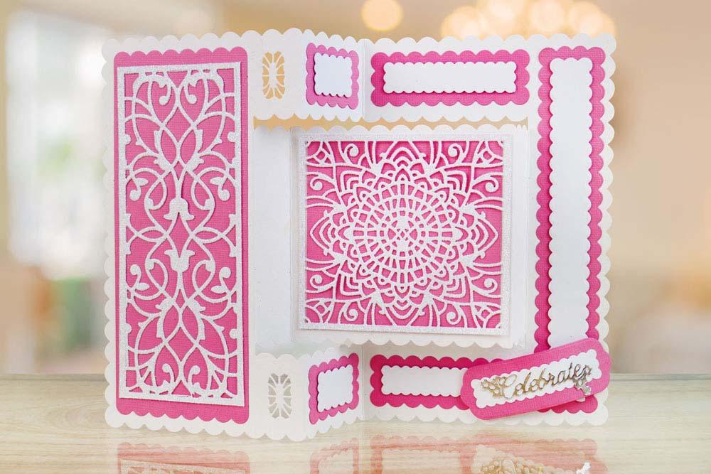 Decorative Tri Fold Card Tld0070 Tattered Lace