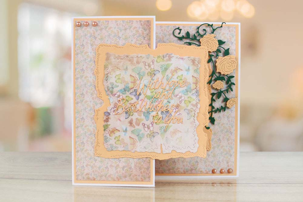 Tattered Lace Captivant Cataire /& Wishing You Love /& Best Wishes Dies 441493