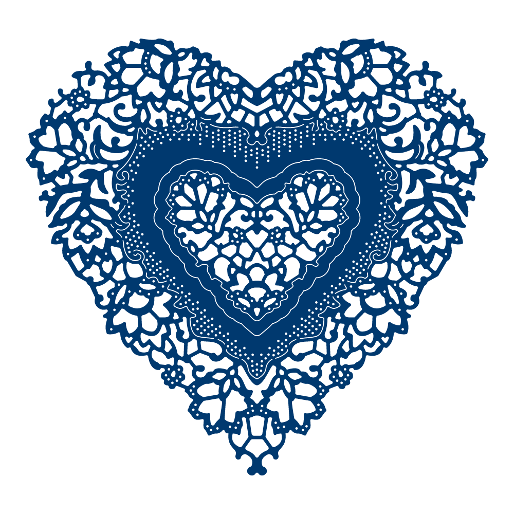 Ornamental Antique Lace Heart Tld0282 Tattered Lace