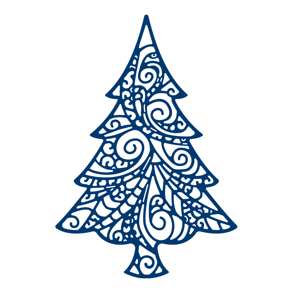 Delicate christmas tree tld tattered lace