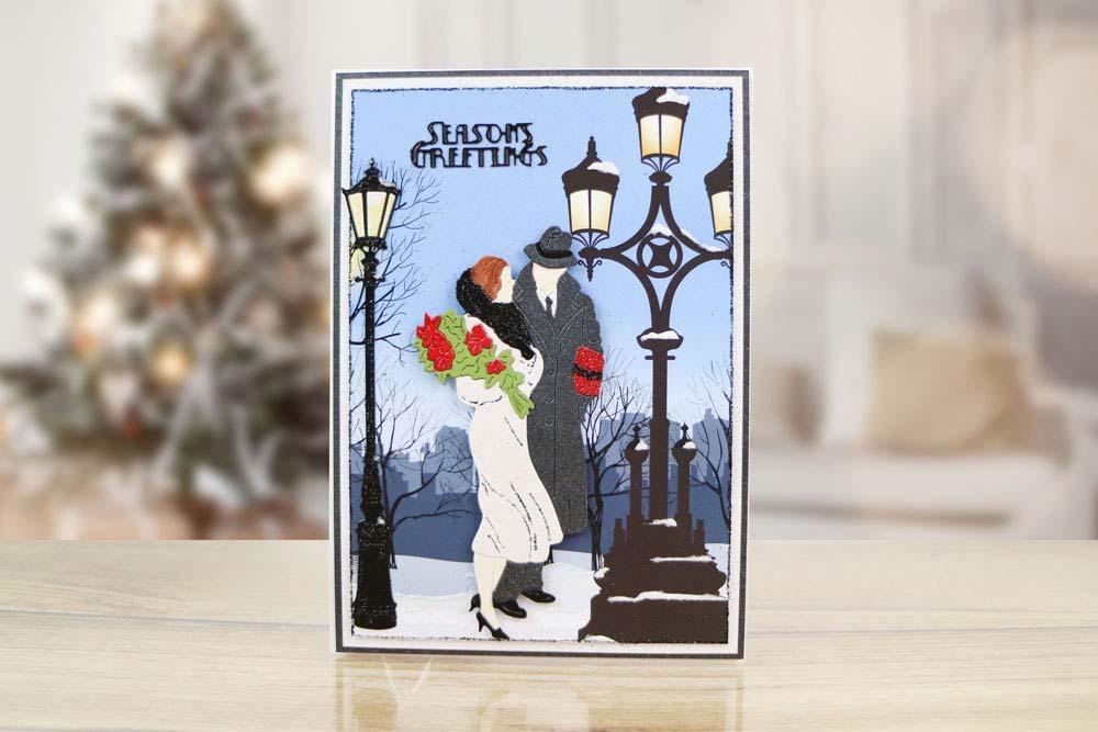 Art Deco Winter Romance Tld0493 Tattered Lace