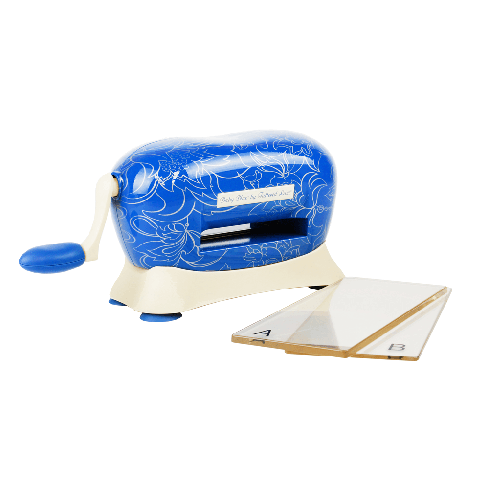 Baby blue die cutting machine tattered lace for Die cutting machines for crafts