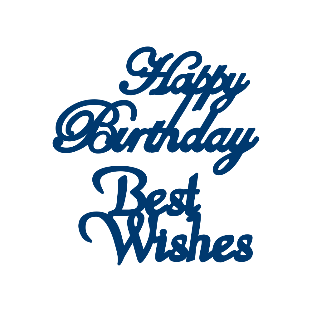 Happy Birthday & Best Wishes (D050) – Tattered Lace