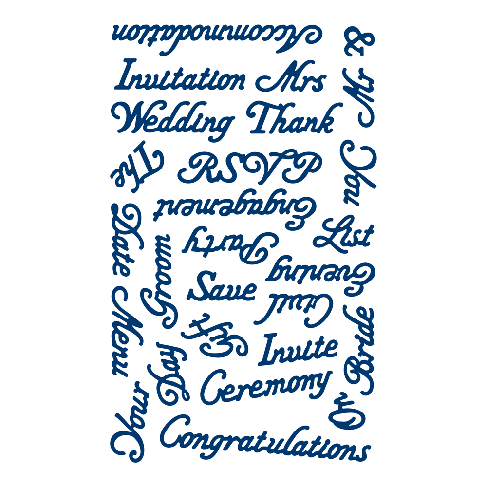 wedding words d235 � tattered lace