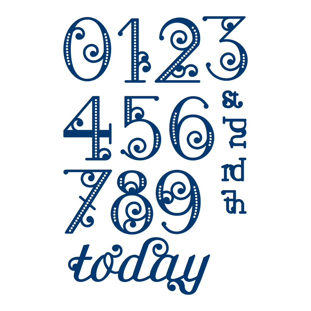 Elegant Numbers (D254) – Tattered Lace