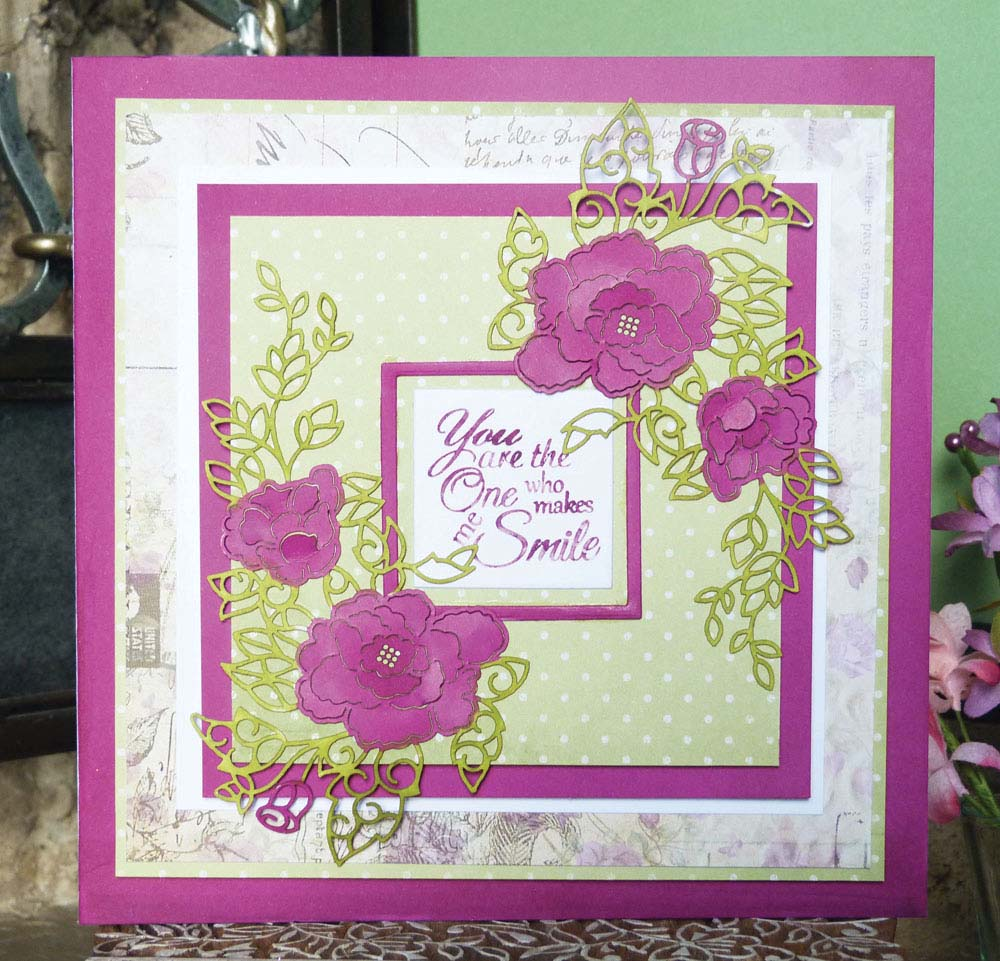 Image result for Tattered lace rambling rose die