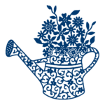 Floral Watering Can (D544)
