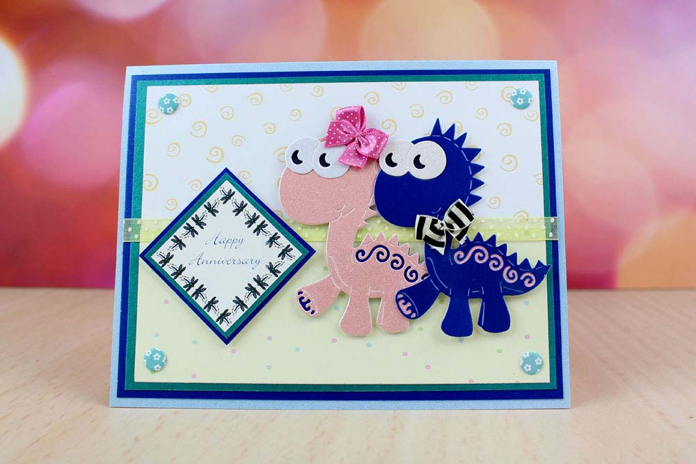 Celebrate With Dinosaur Dies From Tattered Lace Anino