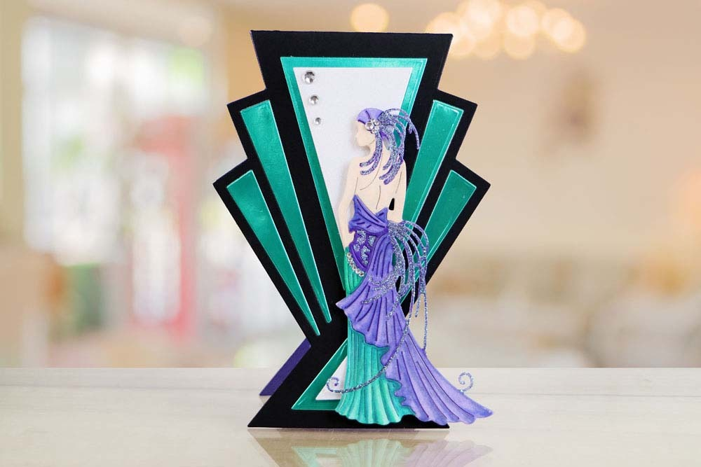Art Deco Card Etl533 Tattered Lace