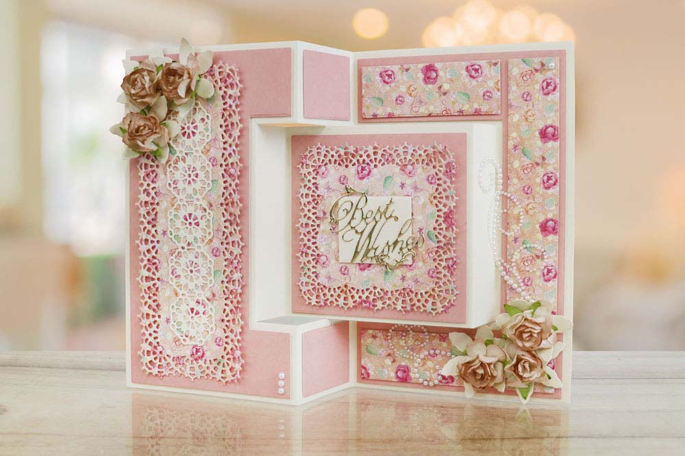 TriFold Card Etl  Tattered Lace